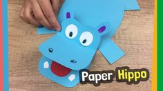 Paper Hippo Craft Idea | Easy to make DIY for kids at home