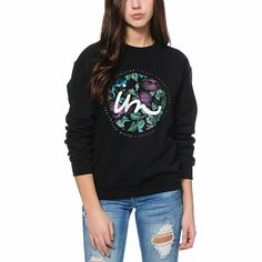 Imperial Motion Floral State Black Crew Neck Sweatshirt | #zumiez
