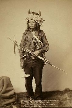 Little, the instigator of Indian Revolt at Pine Ridge, 1890