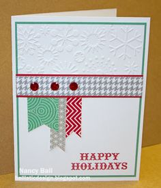 Nancy's CRAFTY blog: Holidays From The Heart Blog Hop #SparkleAndShine #October2013SOTM