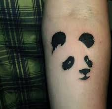 These tattoo designs showcase just how cute Pandas can be great designs. Be inspired with these Panda tattoos. Mini Tattoos, Head Tattoos, Forearm Tattoos, Body Art Tattoos, First Tattoo, Tattoo You, Design Tattoo, Tattoo Designs, Tattoo Grafik