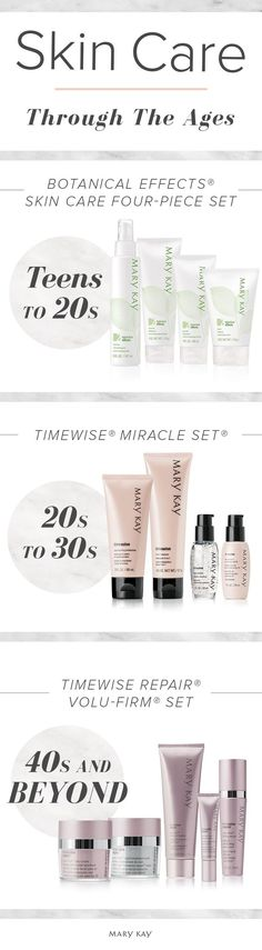 Your skin changes throughout your life, and so should your skin care! Need help finding the perfect skin care regimen for your skin type and lifestyle? A Mary Kay Independent Beauty Consultant can help you!
