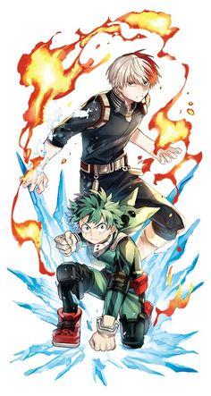 Boku no Hero Academia || Todoroki Shouto, Midoriya Izuku.