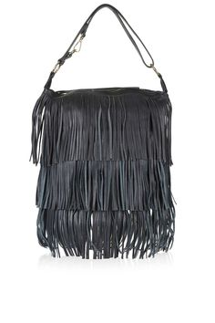 Leather Tassel Hobo Bag - Topshop
