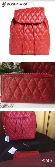 🌺🎀NWT Vera Bradley Red Leather Backpack/ Wallet 🌺🎀NWT Vera Bradley Red Leather Backpack & Wallet Set🌺🎀 Vera Bradley Bags Backpacks