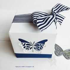 Memory Box Butterfly Die Cut out of lid for box made with the Punch Board (ims, +, punchboard)