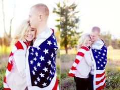 Patriotic Engagement Photos - Military engagement only I would do with a Canadian flag Country Engagement, Engagement Couple, Engagement Pictures, Wedding Pictures, Wedding Ideas, Engagement Ideas, Fall Engagement, Engagement Session, Wedding Planning
