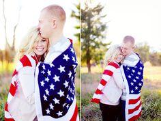 Patriotic engagement photos #military