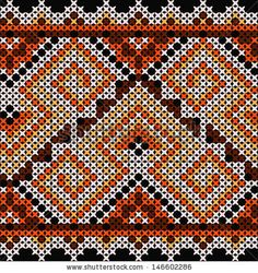 ethnic ornament on a black background
