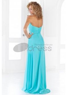 Long Prom Dresses / Strapless Neckline Bodice Beading Accents A-Line Long Prom Dresses / http://www.thdress.com/Strapless-Neckline-Bodice-Beading-Accents-A-Line-Long-Prom-Dresses-p761.html
