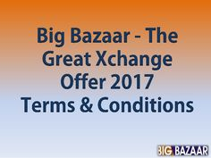 http://big-bazaar.co.in/ Decorate your home with The Great Xchange offers & get up to 25% extra discount on your shopping at Big Bazaar The Great Exchange Offer 2017