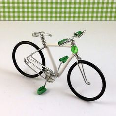 Pretty handmade miniature wire bikes. - See more at: http://allenwireart.com  #allenwireart