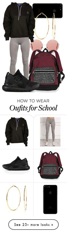 """""""Untitled #299"""" by sarajordan2993 on Polyvore featuring Nadri, Christopher Kane, Victoria's Secret, adidas and Y-3"""