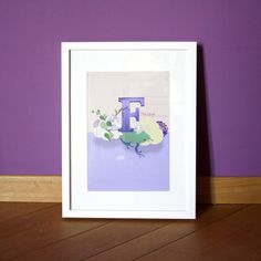 Original purple children's room art print the by madebymeITALY, €15.00