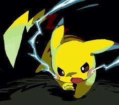 Pikachu Uses Thundershock - Pokemon Pichu Pokemon, Mega Pokemon, Pokemon Pins, Pokemon Fan Art, Pikachu Art, Cute Pikachu, Cute Pokemon, Pokemon Pictures, Catch Em All