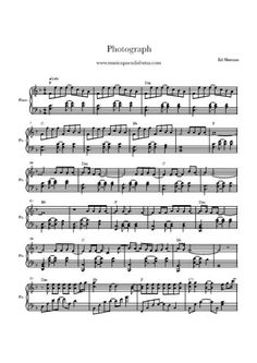 Téléchargez la partition gratuite de la chanson Photograph, partition pour piano. Ed Sheeran