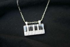 Keyboard Domino Pendant