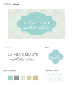 Logo Design #spa #blue #gray