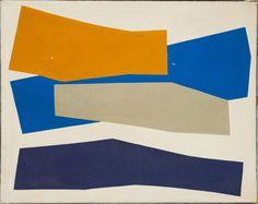 René Roche (1932-1992)  Composition, 1973  Acrylique sur toile  Signée et datée '73' au dos  155 x 195 cm.