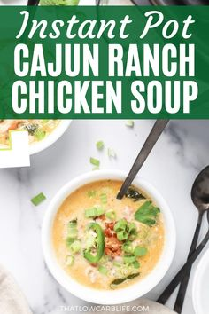 This CAJUN CHICKEN SOUP is quick and simple, thanks to the Instant Pot. Big, bold flavors with minimal work. The whole family loves this soup recipe. #chickensoup #instantpotsoup Easy Healthy Meal Prep, Easy Healthy Breakfast, Lunch Recipes, Healthy Dinner Recipes, Vegetarian Recipes, Keto Recipes, Healthy Soups, Paleo Dinner, Best Baked Chicken Recipe