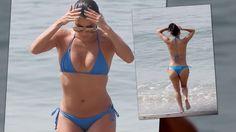 Eva Longoria se ve increíble en biquini azul