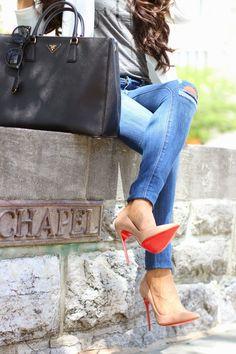 2015 women pumps thin high heeled shoes heels sexy 14cm red bottoms shoes wedding only $115.25 #Red #Bottom #Shoes