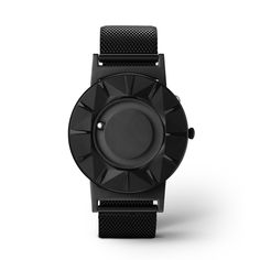 The Bradley Element Black features an innovative, three-dimensional surface — unlike any of the Bradley models. The topography of the watch face contours toward each marker in alternating raised and lowered impressions.