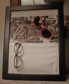 diy sunglasses and glasses storage for under $10
