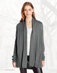 BCBGMAXAZRIA Women's Patti Merino Wool Blend Cardigan Sweater