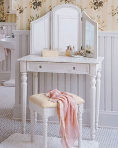 Shabby Chic Dressing Table with Mirror | eBay UK