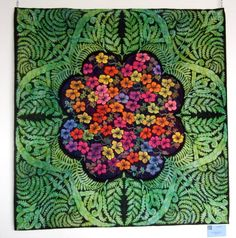 The Fernery by Liz Jones (UK), seen at Quilt en Sud (France) - wonder if this is applique or painted?