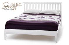 Serene Freya Opal White Wooden Bed Frame