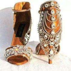Glamorous wedding shoes