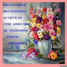 Good Morning, Glass Vase, Floral Wreath, Table Decorations, Buen Dia, Bonjour, Bom Dia, Buongiorno, Flower Garlands
