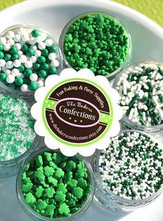 St. Patty's Day sprinkles! 6 mini jars = fun!