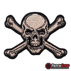 Red Eyed Helicopter Pilot Skull Patch Biker Skull Patches
