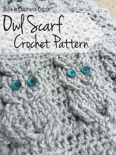 A crochet owl scarf to match your hat and gloves! Get the patterns to make the full set. Littlest came running to me yesterday to ask about a bird he saw in one of our pine trees. Based on his description I'm pretty sure it was a woodpecker, I've seen them in our yard before. …