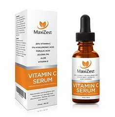 MaxiZest Vitamin C Serum For Face and Skin - With 20% Vitamin C + E + Hyaluronic Acid - Our #1 BEST Serum to Fade Sun Spots & Discoloration - Rejuvenates & Brightens Skin - Guaranteed Glow! - 1oz (30ml). http://www.maxizest.com