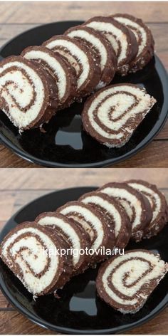 Bounty roll without baking- Рулет «Баунти Sweets Recipes, No Cook Meals, Allrecipes, Doughnut, Sweet Treats, Deserts, Food And Drink, Health Fitness, Chocolate