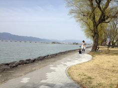 With nature  The biggest lake in Japan