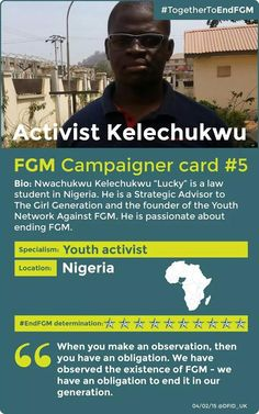 Young activist coming together to end FGM.