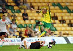 Alex Pritchard in action for Norwich City U23s against Valencia. Picture: Jason Dawson/Jasonpix