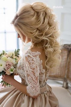 wedding hairstyle trends haf up half down
