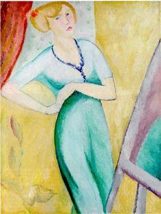 Sigrid Hjertén - Självporträtt 1912