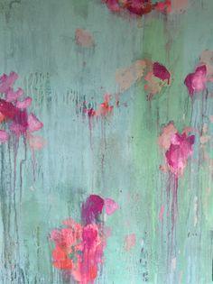 ...abstract art by sonja blaess....50x70cm...petit jardin...2016...