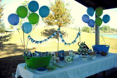 blue birthday | Cute As A Button Birthday Party. | A Reason To Get Together