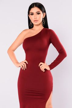 Lenor One Shoulder Dress - Eggplant Club Dresses, Sexy Dresses, Casual Dresses, Short Dresses, Formal Dresses, Fashion Poses, Fashion Outfits, Fasion, Sexy Outfits
