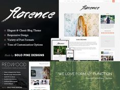 Découvrez les thèmes wordpress formidables de SoloPine disponibles chez Themeforest avec notamment Florence Rosemary ou encore Redwwood. Themes responsive