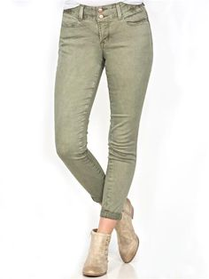 zoom image of Sasha Ankle Skinny High Rise Olive Ultra Jeans Khaki Pants, Vanity, Cozy, Ankle, Skinny, Jeans, Closet, Outfits, Image