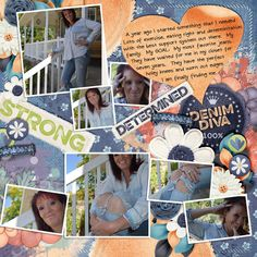 The Jeans layout by CrazyT using Denim Diva Kit